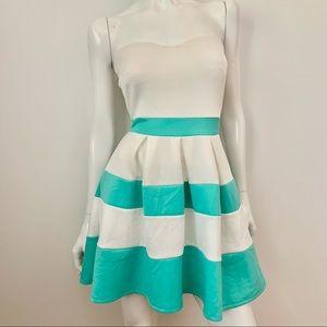 Windsor Strapless Stripe Mini Slim Bodycon Dress